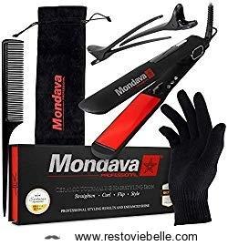 Mondava Professional Ceramic Tourmaline Flat Iron Hair Straightener 1
