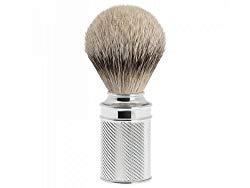 "M¼hle €"" Silvertip Shaving Brush Chrome Metal"
