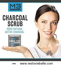 M3 Naturals Activated Charcoal Scrub 1