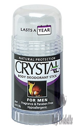 Crystal Rock Mineral Deodorant Stick for Men, Unscented, 4.25 oz (Pack of 2)