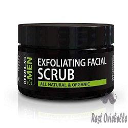 Exfoliating Mens Natural face scrub