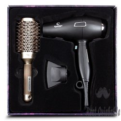 Ionic Hair Dryer with FREE Ceramic Blowdrying Brush