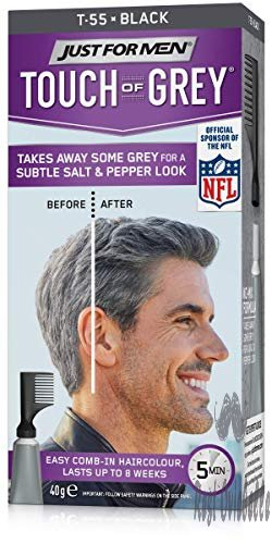 Just For Men Touch Of Gray Hair Color, Black Gray (6 Pack)  Image 1