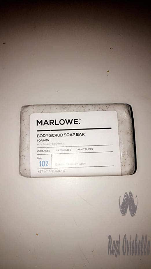 MARLOWE. No. 102 Men's Body Scrub Soap 7 oz | Best Exfoliating Bar for Men | Made with Natural Ingredients | Green Tea Extract | Amazing Scent Customer Image 3