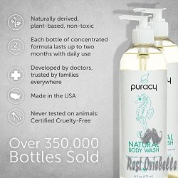 Puracy Natural Body Wash – Citrus and Sea Salt 1
