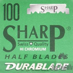 Sharp Hi-Chromium Stainless Straight Edge Barber Razor Blades