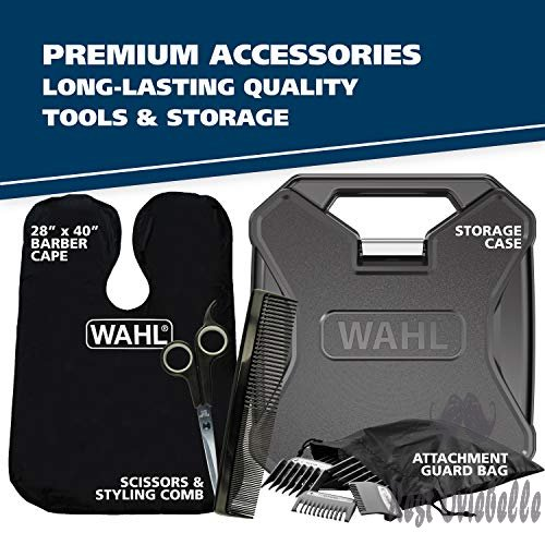 Wahl Clipper Elite Pro High Performance Haircut Kit for men, includes Electric Hair Clippers, secure fit guide combs with stainless steel clips - By The Brand used by Professionals #79602  Image 5