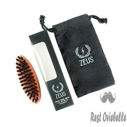 Zeus Boar Bristle Pocket Beard Brush 1