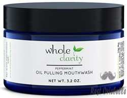 Oil Pulling Teeth Whitening Mouthwash with Coconut Oil