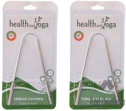 HealthAndYoga(TM) Tongue Cleaner Scraper -