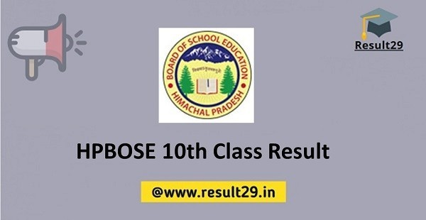 HPBOSE 10th Class Result