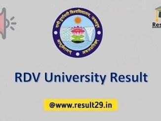 RDV University Result