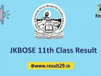 JKBOSE 11th Class Result