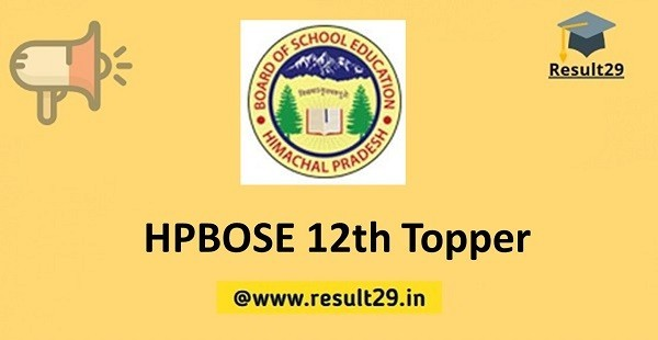 HPBOSE 12th Topper