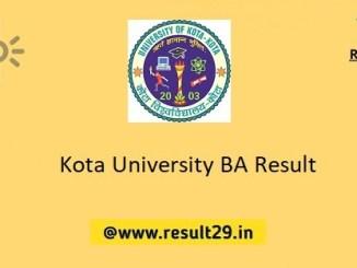 Kota University BA Result