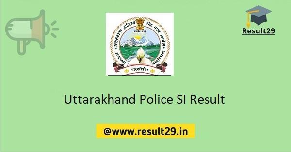 Uttarakhand Police SI Result