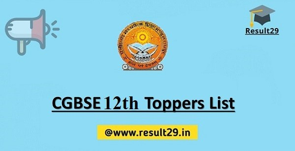 CGBSE 12th Toppers List