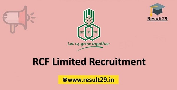 RCF Limited Recruitment
