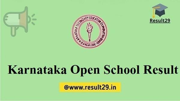 Karnataka Open School Result