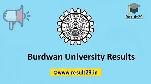 Burdwan University Results