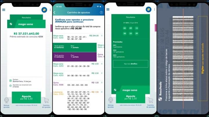 prints de tela do app da Caixa