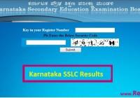Karnataka SSLC Result 2018 Class 10th