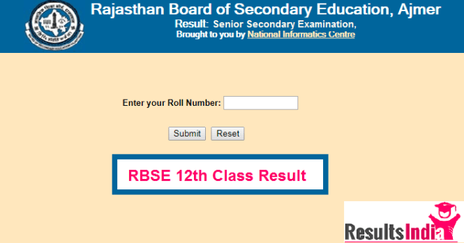 Rajasthan Board (RBSE) 12th Class Result 2018 Commerce