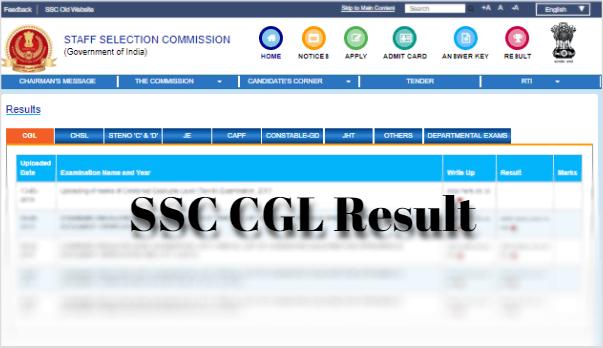 SSC CGL Result 2018-19