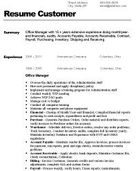 sample office manager resume resume express