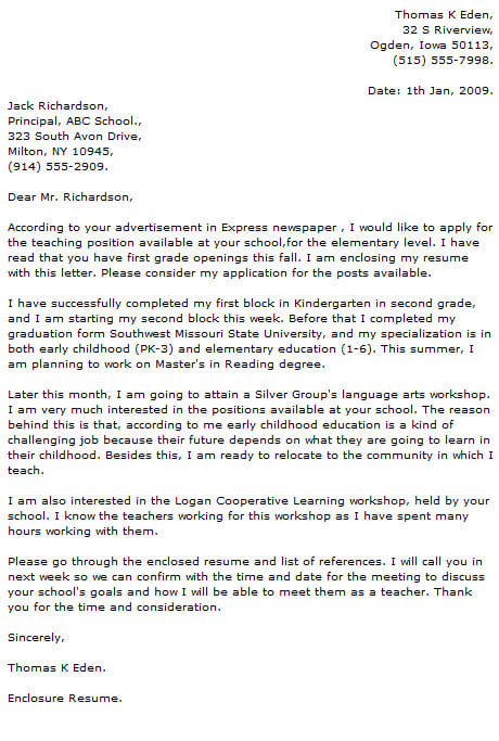Teacher Cover Letter Examples Make An Impression Resume Now