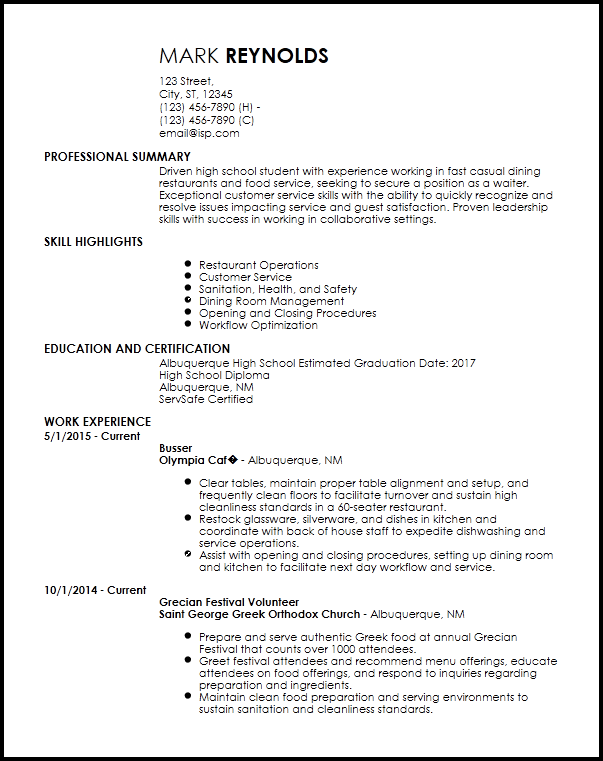 Entry Level Resume Templates Resume Sample