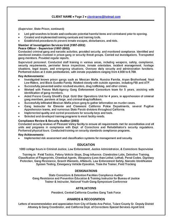 curriculum vitae police officer sample resume for security guard