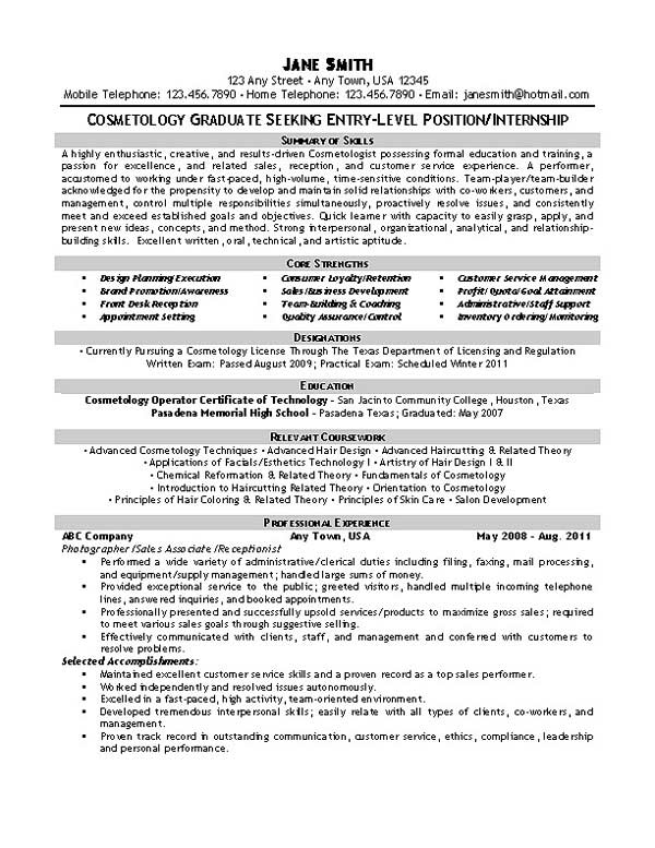 resume example exbc27 cosmetology jpg