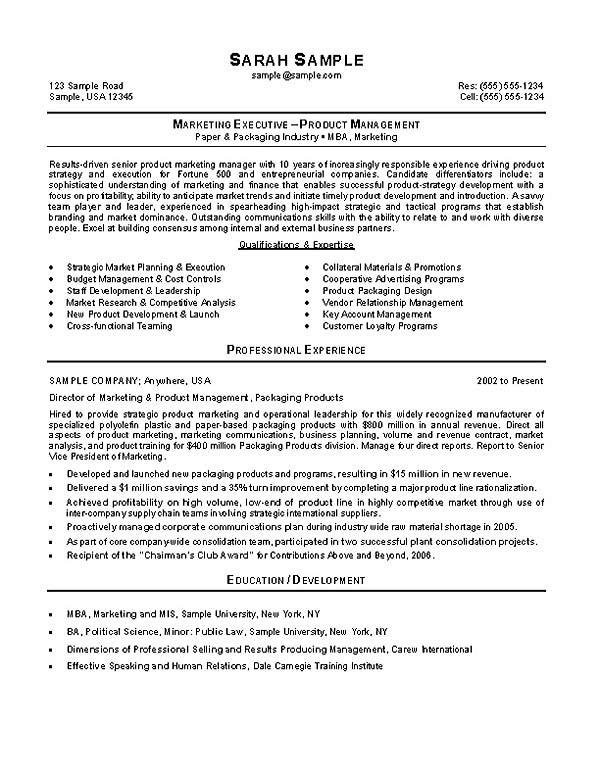 Marketing Manager Resume Example  Product Marketing Manager Resume