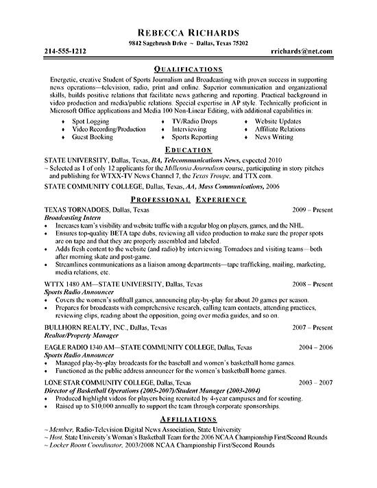 Student Film Director Resume. Background Music For Video Resume