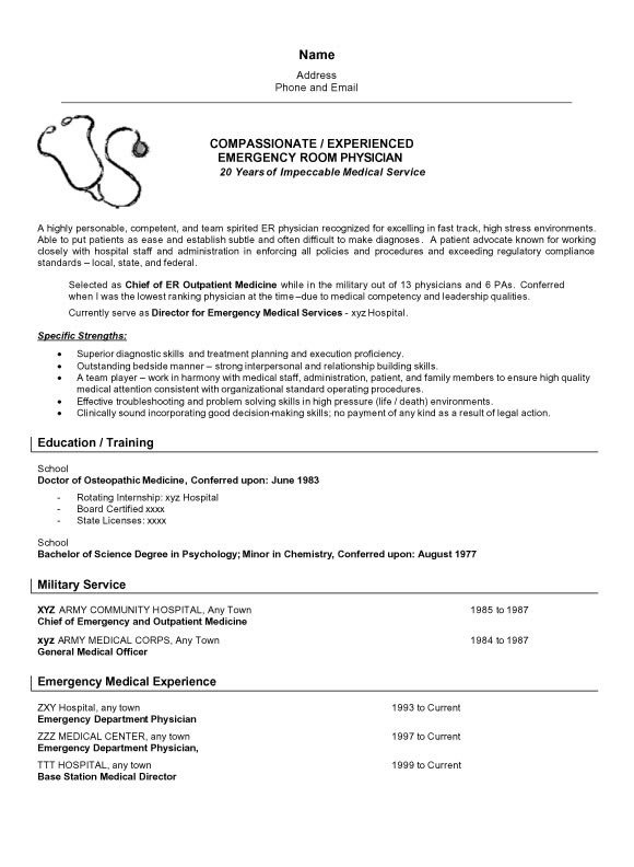 resume sample doctor6a jpg
