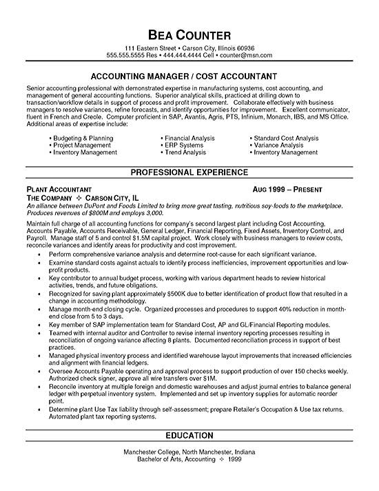 Sle Resume Cover Letter For Accounting Job Of Simple Template