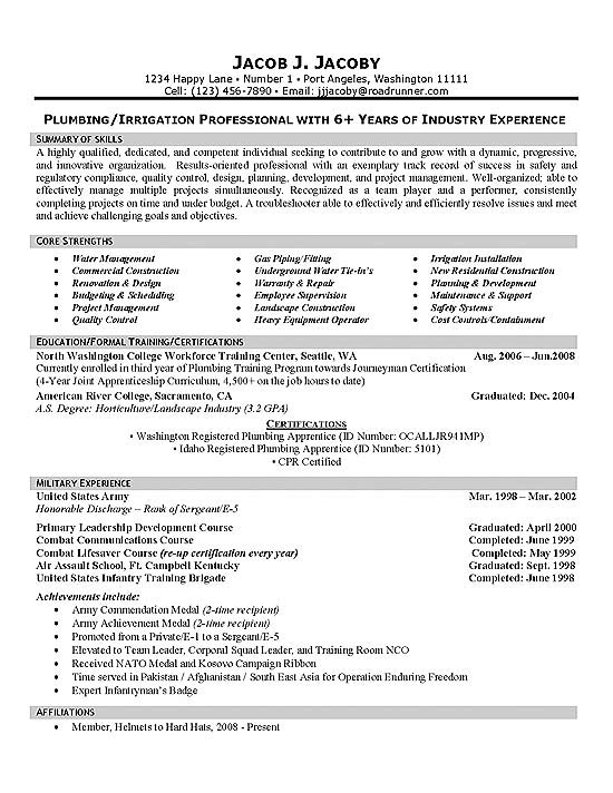 plumber resume example maintenance supervisor resume sample