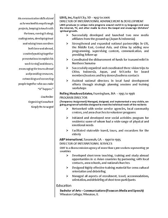 international relations resume example page 2