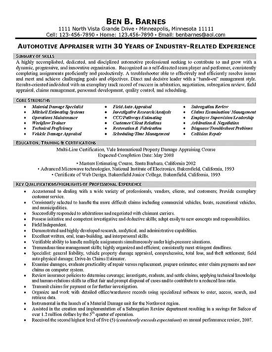 Bankruptcy Analyst Sample Resume