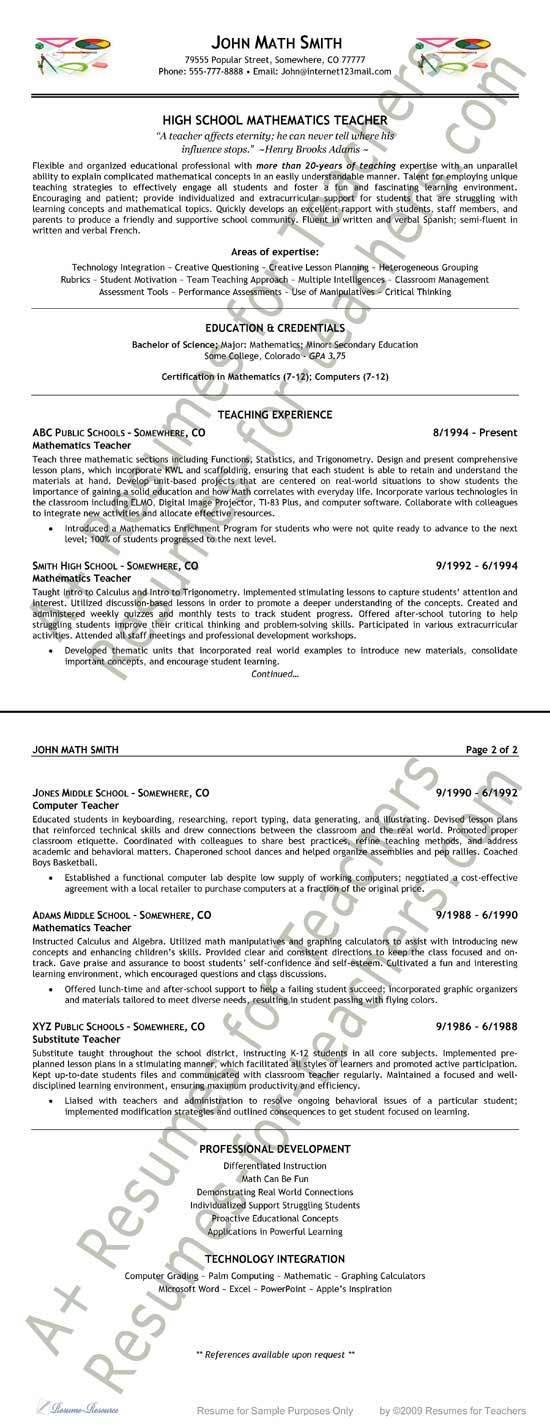 sample resume extea9 jpg