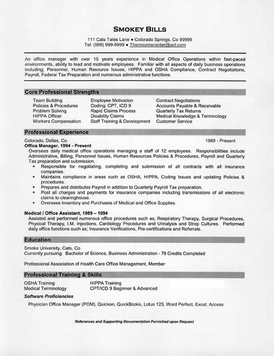 Office Administrator Resume Examples - Template