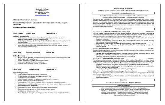 exchange server admin resume server administrator resume