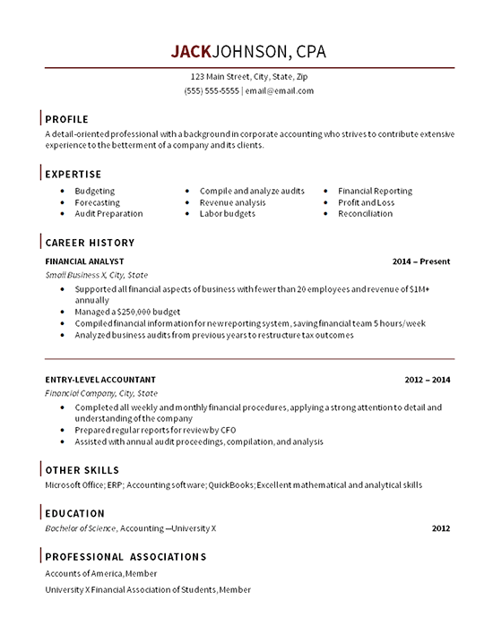 entry level accountant resume example - Budget Accountant Sample Resume