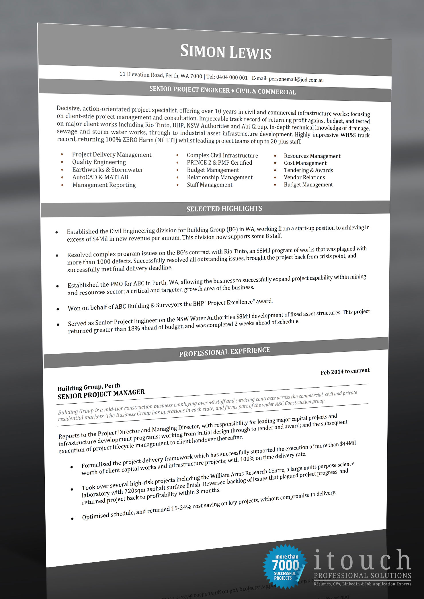Resume Examples Australia   Resume Examples for the Australian format Resume Examples Australia   Financial Analyst