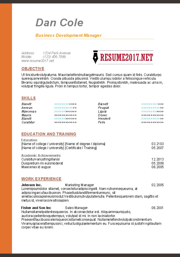 Resume Format - Chronological, Functional or Targeted.