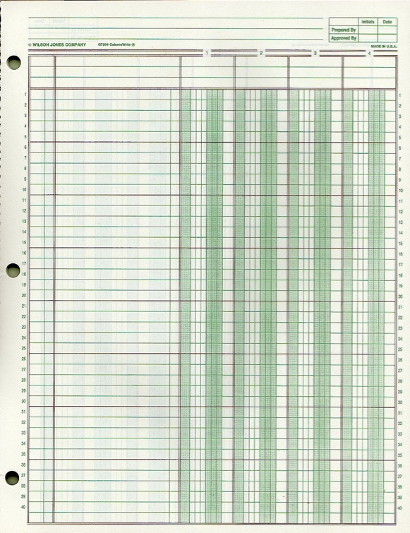 Doc951646 Printable Account Ledger General Ledger Sheet – Ledger Paper Template