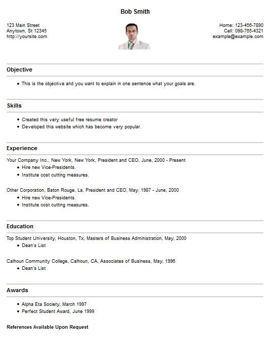 resume template style 28 resume 4 free