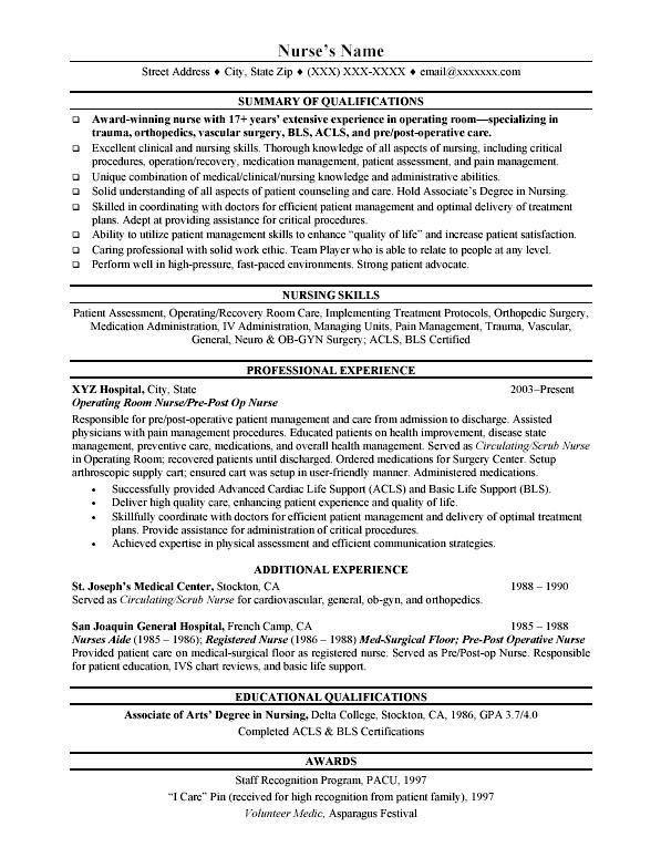 Good Rn Resume. Nursing Resume Resume And Nursing On Pinterest