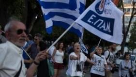 NO Vote supporters begin to celebrate in Syntagma. | Photo: teleSUR